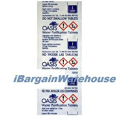 10 Water Purification 17mg Tablets (each tablet treats 1 litre of water)