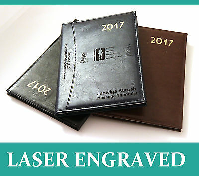 Personalised Executive Diary Organiser Planner 2017, Faux Leather,  A4/A5