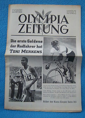 Orig.PRG / Newsletter  Olympic Games BERLIN 1936 - 08.08. all Day Event`s ! RARE