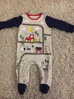 Baby Boys Tractor Babygrow / Outfit Size 3-6 Months
