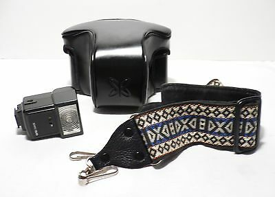 Sears Leather Case-Carrying Sling-Flash For Sk-1 35Mm Slr Film Camera