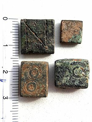 Group Of 4 Ancient Byzantine Bronze Weights.