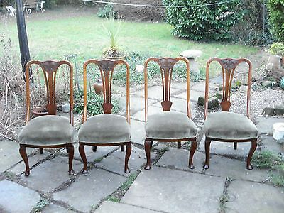Set Of 4 Antique Dining Chairs  Excellent Condition