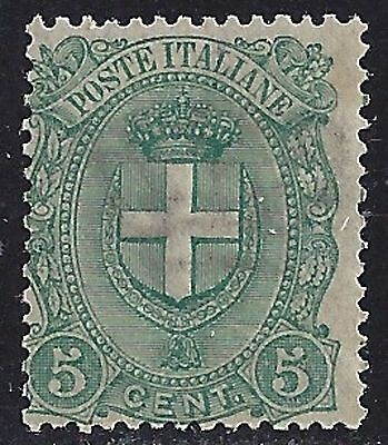 Regno n° 67, Cifra cent. 5 verde, nuovo integro MNH**