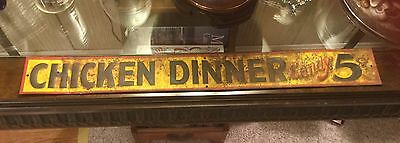 Antique metal Chicken Dinner Candy Sign