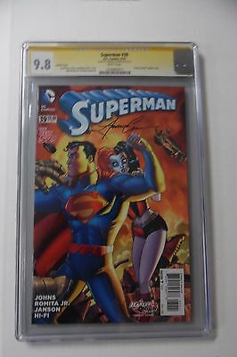 """Superman #39 CGC SS 9.8 Signed Amanda Conner ~ """"Harley Quinn"""" Variant Cover"""