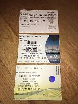 GIRLS ALOUD:::3xCONCERT TICKET:::TANGLED UP / GREATEST HITS TOURS, LONDON