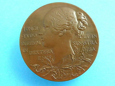 HISTORICAL MEDAL- 1897 Queen Victoria DIAMOND JUBILEE 55mm BRONZE MEDAL