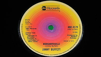 "JIMMY BUFFETT : Margaritaville / Miss you so badly - Original 1977 7"" single VG"