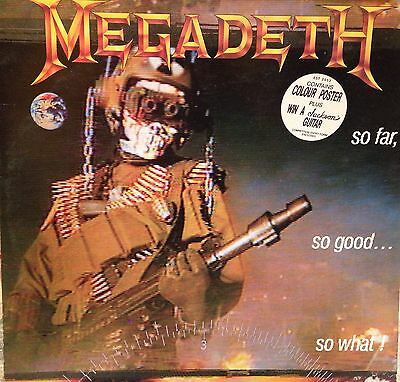 Megadeth: So Far So Good So What, Uk Lp With Poster, Speed Thrash Metal