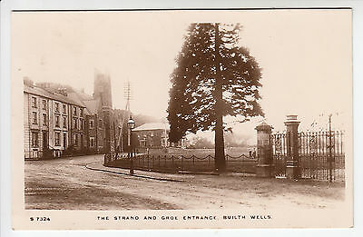 The Strand and Groe Entrance, Builth Wells - W. H. Smith Kingsway RP PC (967)