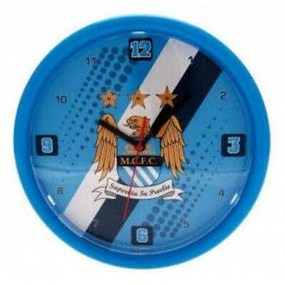 OFFICIAL Manchester City Wall Clock New Stripe Edition