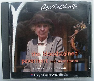 THE BLOODSTAINED PAVEMENT by AGATHA CHRISTIE 2 CD'S AUDIO BOOK