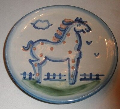 """M A Hadley 4 Bread Plates 6"""" Country Horse PONY"""
