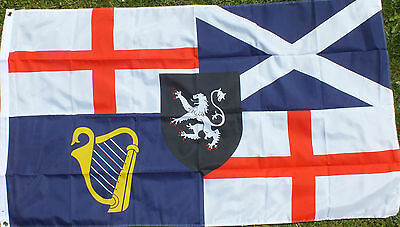 Cromwell 5x3 Flag Unionist British Loyalist Oi Patriot UK GB Great Britain ukip