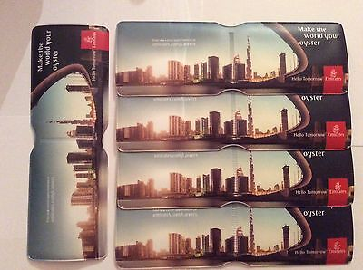 Ticket Wallets x5 .... EMIRATES AIRLINE Oyster Card Wallets....