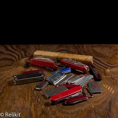 Mixed Pocket Knife Lot Of 17 Swiss Advertisement