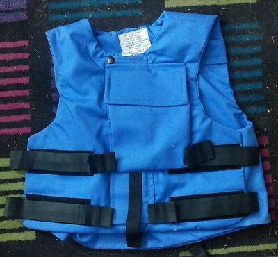 BRITISH ARMY FLAK VEST BODY ARMOUR COVER in UNITED NATIONS BLUE film/TV security