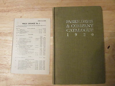 Early APRIL 1920 PARKE-DAVIS Catalog, GREAT REFERENCE for NARCOTIC Type BOTTLES