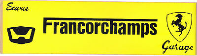 Ferrari - Ecurie Garage Francorchamps - period 1960s/70s sticker - NEW OLD STOCK
