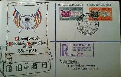 Union of south africa FDC Bloemfontein Convention 1954