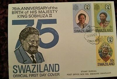 Swaziland FDC Anniversary of the King. 1974