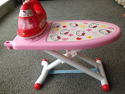 Children's Pretend Play House HELLO KITTY Ironing Board with Iron EUC P/U 3129