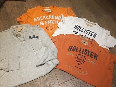 Mens XL Hollister And Abercrombie Tops X4