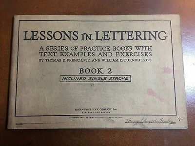 Lessons In Lettering Book 2 1924 Practice Books For Drafting French & Turnbull