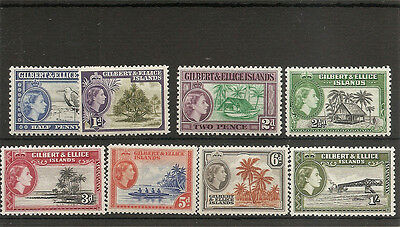 GILBERT & ELLICE ISLANDS 1956 short set  SG64/71 mint
