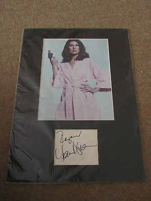 Maud Adams  -  James Bond 007 Signed  - Paper Page Matted + Photo  - Uacc Proof