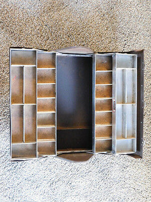 Vintage Kennedy Kits Tackle Box #417 (Rare) Hip Roof Cantilevered Drawers Fish