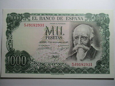 Billete De 1000 Pesetas De 1971 Echegaray