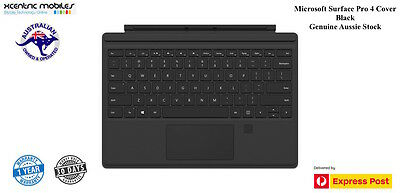 Microsoft Surface Pro 4 Keyboard Cover Fingerprint ID - Black - Express Shipping