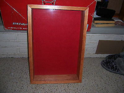Wooden  12x12 outside Military medal display case shadow box  display