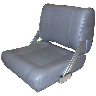 New Deluxe Boat Seat Grey 2 Way Flip Back Marine Seat