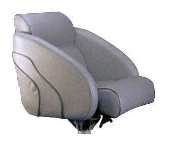 NEW Boat Seat Grey Thigh Rise Marine Helm Chair High Quality Marine Vinyl