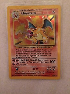 Holo Charizard Pokemon Stage One Card 4/102 1995
