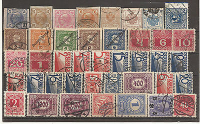 Austria. Mixture Of Dues And Newspaper Stamps Used