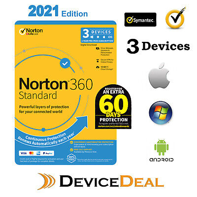 Norton Security Deluxe 2020, 3 Device, 1Year PC, MAC, Android, iOS - License Key
