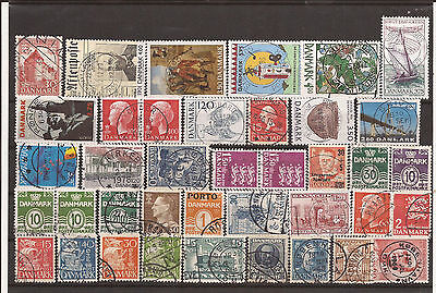 Denmark. Mixture. Two Scans Of Various Stamps. Used
