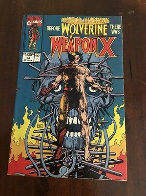 MARVEL COMICS PRESENTS #72 Wolverine 1ST APPEARANCE OF WEAPON X Comic Book