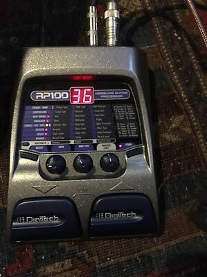 Digitech RP100 Modeling Guitar Effects  Processor Whammy Reverb Pitch Shifter Eq