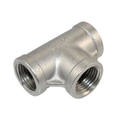 """1 Pcs 1/2"""" Tee 3 way Female Stainless Steel 304 Threaded Pipe Fitting NPT G1CP"""