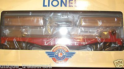 NEW,Lionel 39471 #6264 Lumber Car w Wood Timber Load, use with Forklift Platform