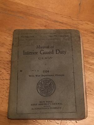WWI US Army Book on Interior Guard Duty 1914