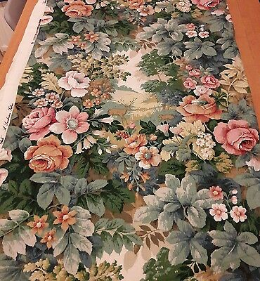 Beautiful Vintage Sanderson fabric 'Glade' 48ins x 160 ins