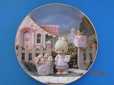 """Precious Moments """"God Loveth A Cheerful Giver"""" Plate The Hamilton Collection"""