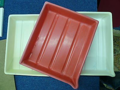 Plastic 8X10 Developing Trays Unmatched Set of 3