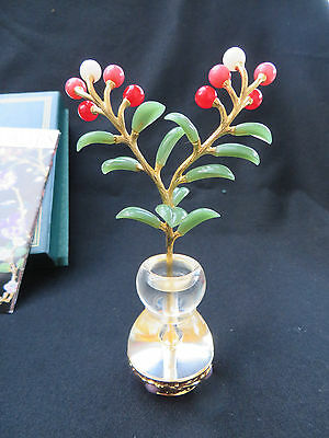 "Joan Rivers Imperial Flowers ""Cranberry"" with Vase RETIRED RARE MIB"